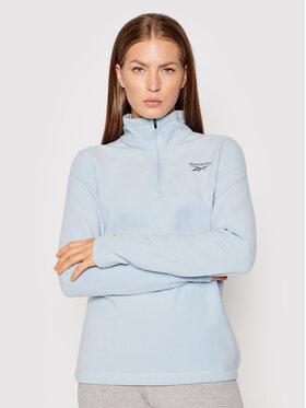Reebok Reebok Polár kabát Outwear Fleece GU5751 Kék Regular Fit