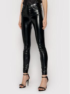 Guess Guess Pantaloni din imitație de piele 1981 W1YA28 WE0X0 Negru Skinny Fit
