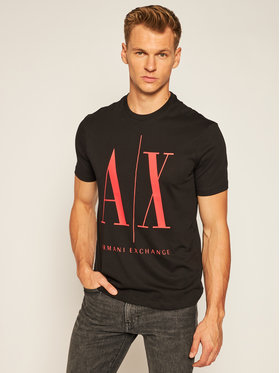 Armani Exchange Armani Exchange T-Shirt 8NZTPA ZJH4Z 0275 Czarny Regular Fit
