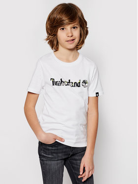 Timberland Timberland T-Shirt T45818 Bílá Regular Fit