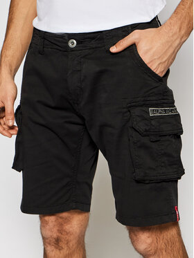 Alpha Industries Alpha Industries Pantaloncini di tessuto Crew 176203 Nero Slim Fit