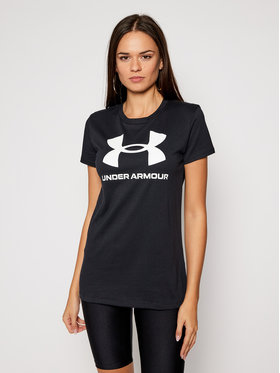 Under Armour Under Armour Póló Live Sportstyle Graphic 1356305 Fekete Regular Fit