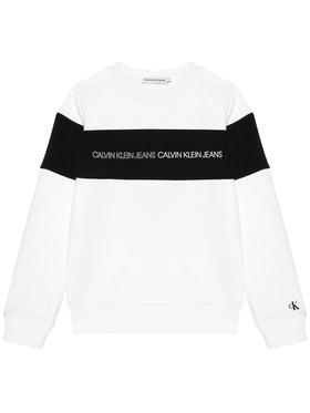 Calvin Klein Jeans Calvin Klein Jeans Bluza Colour Block Logo IB0IB00812 Biały Regular Fit