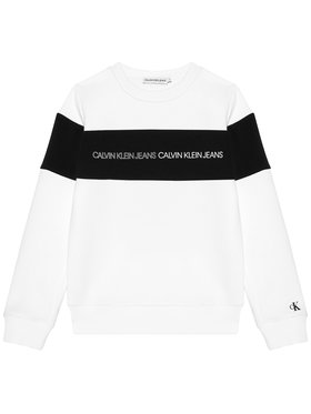 Calvin Klein Jeans Calvin Klein Jeans Суитшърт Colour Block Logo IB0IB00812 Бял Regular Fit