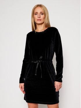 Calvin Klein Calvin Klein Hétköznapi ruha Ls Velour Tie Waist K20K202284 Fekete Regular Fit