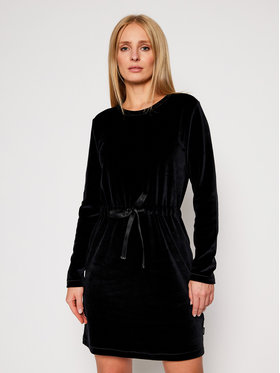 Calvin Klein Calvin Klein Robe de jour Ls Velour Tie Waist K20K202284 Noir Regular Fit