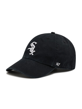 47 Brand 47 Brand Cappellino Chicago White Sox Clean Up B-RGW06GWS-HM Nero