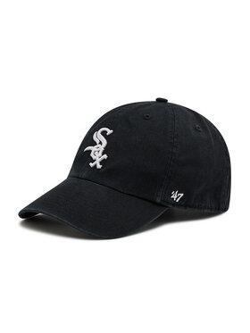 47 Brand 47 Brand Καπέλο Jockey Chicago White Sox Clean Up B-RGW06GWS-HM Μαύρο