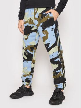adidas adidas Spodnie dresowe Graphics Camo H13465 Niebieski Regular Fit