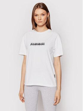 Napapijri Napapijri T-Shirt S-Box NP0A4FSM Bílá Regular Fit