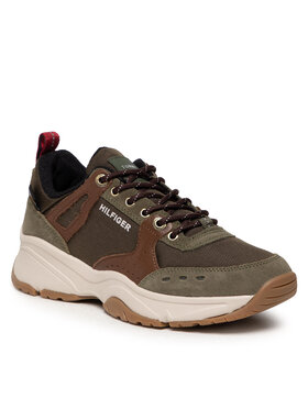 Tommy Hilfiger Tommy Hilfiger Sneakersy Outdoor Sneaker Mix Runner FN0FM03274 Brązowy