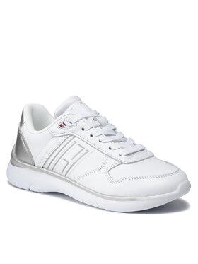 Tommy Hilfiger Tommy Hilfiger Sneakersy Leather Ligtweight Sneaker FW0FW06016 Bílá