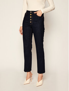 Tory Burch Tory Burch Jeansy Straight Leg 53513 Granatowy Regular Fit
