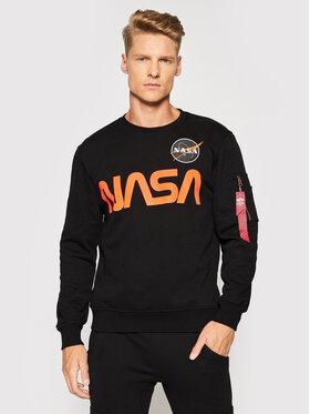 Alpha Industries Alpha Industries Sweatshirt NASA Reflective 178309 Schwarz Regular Fit