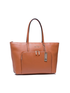 Calvin Klein Calvin Klein Τσάντα Shopper Lg Saffiano K60K608554 Καφέ