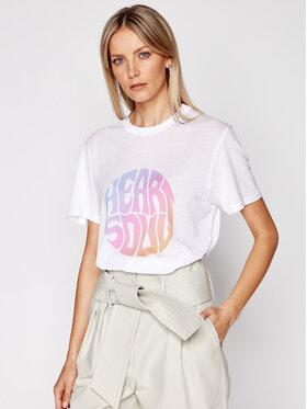 IRO IRO Marškinėliai Heartso A0282 Balta Regular Fit