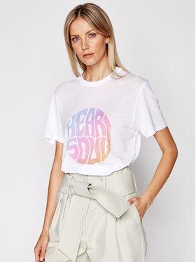 IRO IRO T-Shirt Heartso A0282 Biały Regular Fit