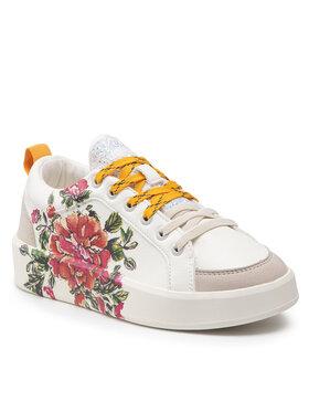 Desigual Desigual Сникърси Shoes Fancy Flower 21WSKP17 Бял