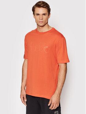 Diadora Diadora T-Shirt Hd 502.177843 Pomarańczowy Regular Fit