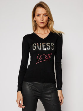 Guess Guess Pullover Angeline W1RR0C Z2NQ0 Schwarz Slim Fit