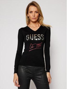 Guess Guess Pulover Angeline W1RR0C Z2NQ0 Negru Slim Fit