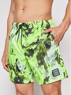 Puma Puma Úszónadrág Reflection All-Over-Print 935060 Zöld Regular Fit