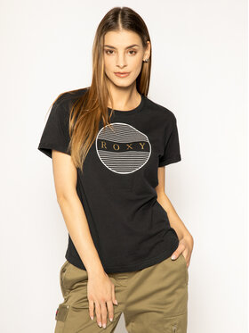 Roxy Roxy T-Shirt ERJZT04809 Czarny Oversize