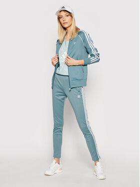 adidas adidas Teplákové nohavice Sst Pants Pb GN2947 Zelená Slim Fit