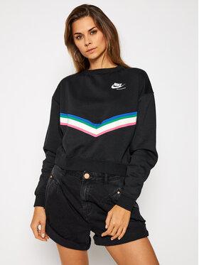 NIKE NIKE Sweatshirt Nsw Fleece Crew CU5877 Schwarz Loose Fit