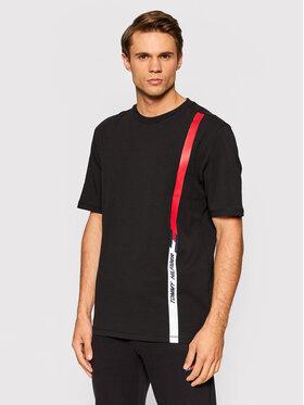 Tommy Hilfiger Tommy Hilfiger T-Shirt Vertical Logo MW0MW19765 Černá Regular Fit