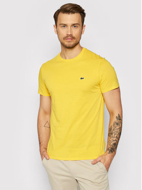 Lacoste Lacoste T-shirt TH6709 Žuta Regular Fit