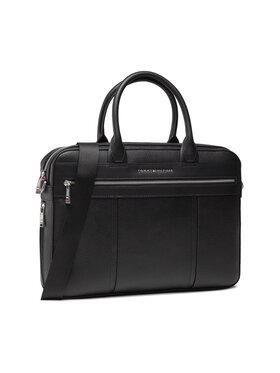 Tommy Hilfiger Tommy Hilfiger Чанта за лаптоп Th Downtown Slim Comp Bag AM0AM07564 Черен