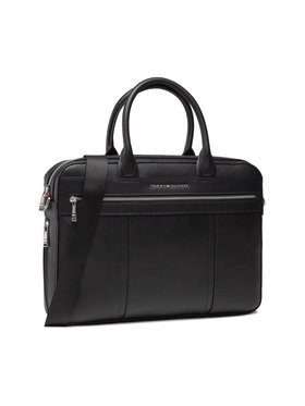 Tommy Hilfiger Tommy Hilfiger Τσάντα για laptop Th Downtown Slim Comp Bag AM0AM07564 Μαύρο