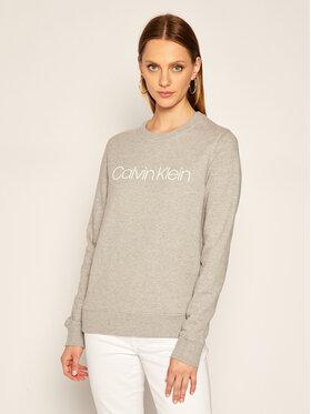 Calvin Klein Calvin Klein Bluza Ls Core Logo K20K202157 Szary Regular Fit