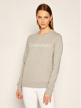 Calvin Klein Calvin Klein Majica dugih rukava Ls Core Logo K20K202157 Siva Regular Fit