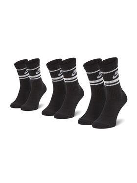 Nike Nike Lot de 3 paires de chaussettes hautes unisexe CQ0301-110 Noir