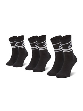Nike Nike Sada 3 párů vysokých ponožek unisex CQ0301-110 Černá