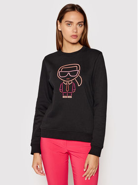 KARL LAGERFELD KARL LAGERFELD Sweatshirt Ikonik Outline 215W1812 Noir Regular Fit