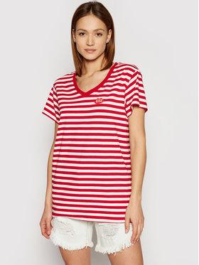 PLNY LALA PLNY LALA T-shirt Petite Kiss PL-KO-VN-00133 Rouge Relaxed Fit