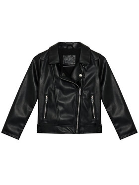 Guess Guess Giacca in similpelle K1YL00 WAEI0 Nero Regular Fit