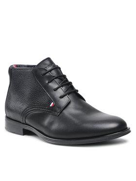 Tommy Hilfiger Tommy Hilfiger Зимни обувки Casual Leather Laces Boot FM0FM03780 Черен