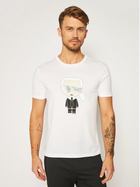 KARL LAGERFELD KARL LAGERFELD T-Shirt Crewneck 755061 502251 Bílá Regular Fit