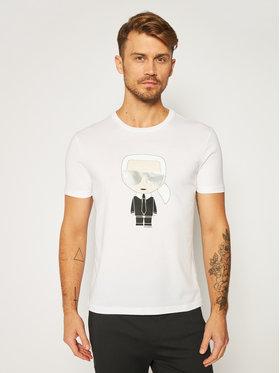 KARL LAGERFELD KARL LAGERFELD T-shirt Crewneck 755061 502251 Blanc Regular Fit