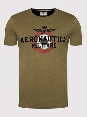 Aeronautica Militare Aeronautica Militare Тишърт 212TS1901J511 Зелен Regular Fit