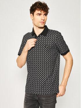 Calvin Klein Calvin Klein Polo Allover Print K10K105192 Czarny Regular Fit