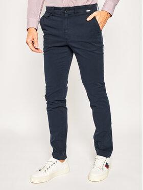 Calvin Klein Calvin Klein Spodnie materiałowe Garmen Dye K10K104974 Granatowy Slim Fit