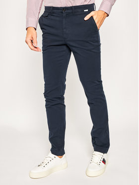 Calvin Klein Calvin Klein Szövet nadrág Garmen Dye K10K104974 Sötétkék Slim Fit