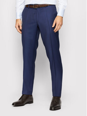 Carl Gross Carl Gross Pantalone da abito Cg Flann 061S0-70 Blu scuro Regular Fit