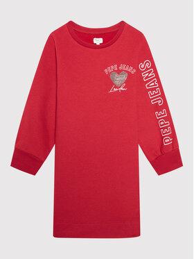 Pepe Jeans Pepe Jeans Sukienka codzienna Gea PG951510 Czerwony Relaxed Fit