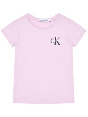 Calvin Klein Jeans Calvin Klein Jeans Marškinėliai Chest Monogram IG0IG00573 Violetinė Regular Fit